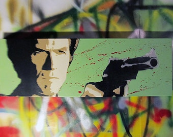 Clint Eastwood - Dirty Harry Spray Paint stencil art on canvas