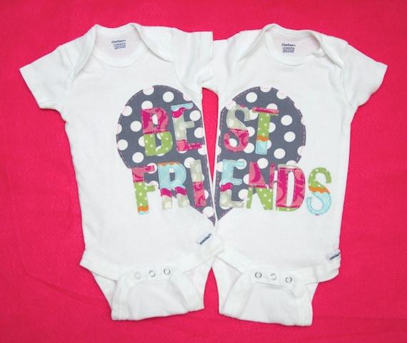 Best Friend Twin Girl Onesies