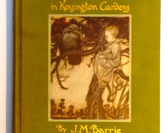 Vintage EARLY EDITION 'Peter Pan in Kensington Gardens' by J. M. Barrie, with Fantastic Illustrations by Arthur Rackham 1940