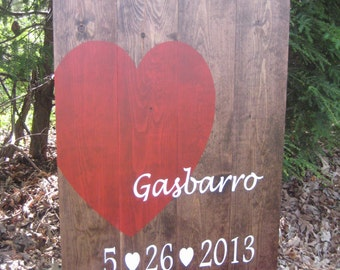Alternative Guest Book, Wedding Guest Book, Wood Heart Sign, Personalized Wood Sign, Reception Sign, Wood Slat Sign