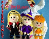 Lily in Halloween: 7 Styles Outfits Pattern in Halloween with Changeable Clothes Crochet Doll( PDF only )
