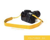 LEATHER Camera Strap - SLR Camera Strap - DIANA - orange cow hide - leather skin pattern soft