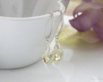 Lemon Quartz Earrings, November Birthstone