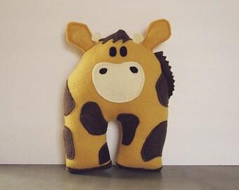 Yellow Giraffe Animal Room Decor