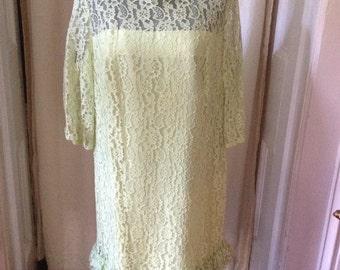60's Vintage Lace Dress