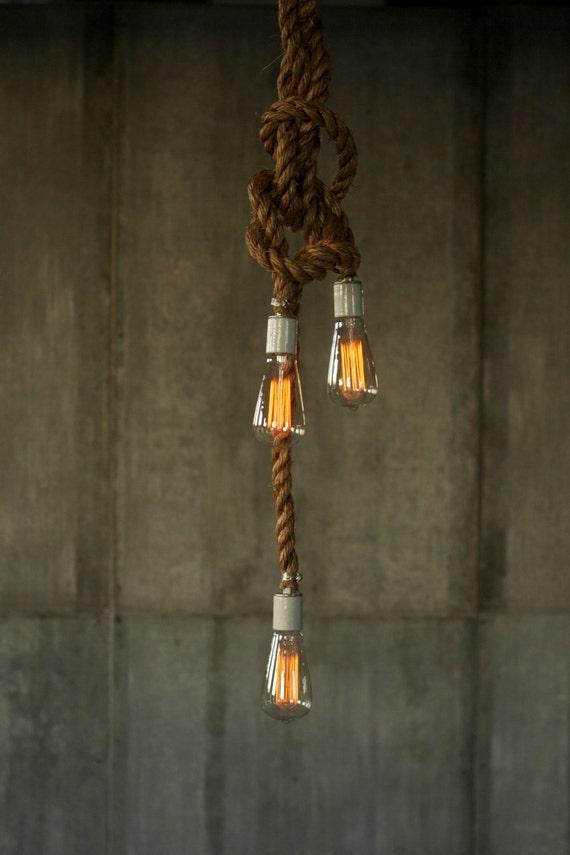 corde lustre industrial light clairage suspendu lumi re lampe. Black Bedroom Furniture Sets. Home Design Ideas