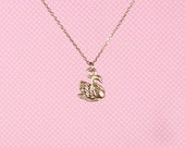 """Swan 18"""" Charm Necklace"""