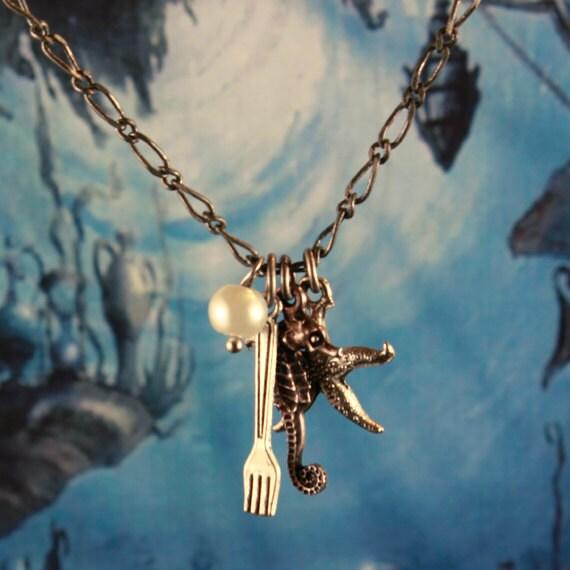 """Princess Ariel 30"""" Charm Necklace"""
