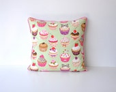 cupcakes cushion cover/ pillow cover