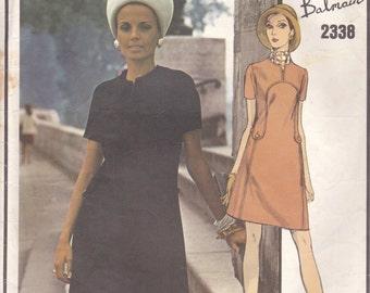 Pierre Balmain A-Line Dress Pattern Vogue Paris Original 2338 Size 12
