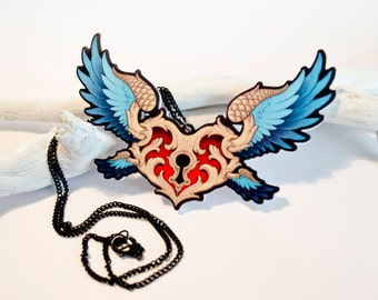 BEWINGED HEART - Tattoo Inspired Necklace