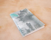 Notebook sketchbook grey gray turquoise