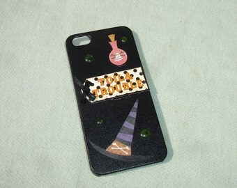 Wiccan Witch Decorative iPhone 5/5S Case - Hand Decorated iPhone Case