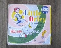 Rare Vintage Little Orley record - Little Orley Adventures - Barn Dance; Poison Ivy; Moon; Pancake - Uncle Lumpy Little Orley 45 rpm Record
