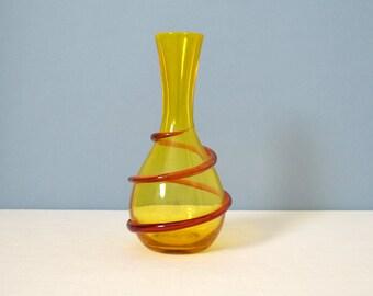 Vintage Joel Philip Myers Blenko Applied Coil Vase 6815