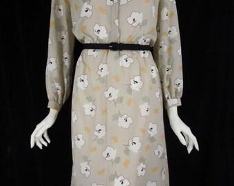 70s/80s Secretary Dress Parnes Feinstein Neiman-Marcus - med, lg