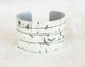 Birch Wood Bracelet - Birch Print - Trending Bracelets - Womens Fashion Trends - Chunky Cuff - Large Cuff Bracelet by Zoe Madison (272)