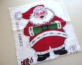 RESERVED santa claus doll by valtrex brushed cotton fabric panel