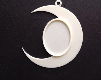 Moon Handmade Cameo Setting 40x30mm