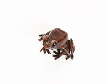 Poison dart frog - small - Bronze