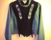 RARE bohemian1849 southwestern native fringed suede blazer