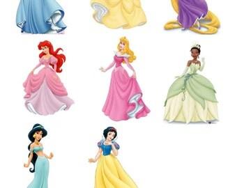DIGITAL Disney Princess Centerpieces - Cinderella Rapunzel Sleeping Beauty - Print at Home DIY