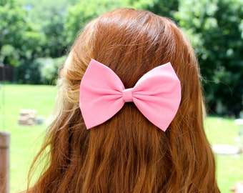 SALE - Faye Hair Bow - Pink Hair Bow with Clip
