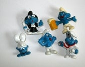 Smurfs Quack beer headstand doctor tongue out 1980s 80s 70s toys