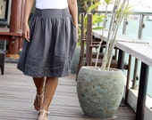 Dark Charcoal Women's skirt, dark grey skirt, fall / autumn fashion skirt
