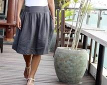 Dark Charcoal Women's skirt, dark grey skirt, fall / autumn fashion skirt