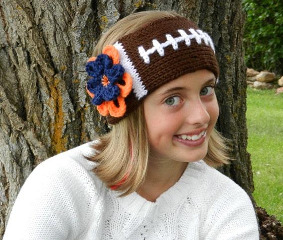 Tunisian Knit Stitch Headband Pattern : Tunisian Knit-Look Crochet Football Headband