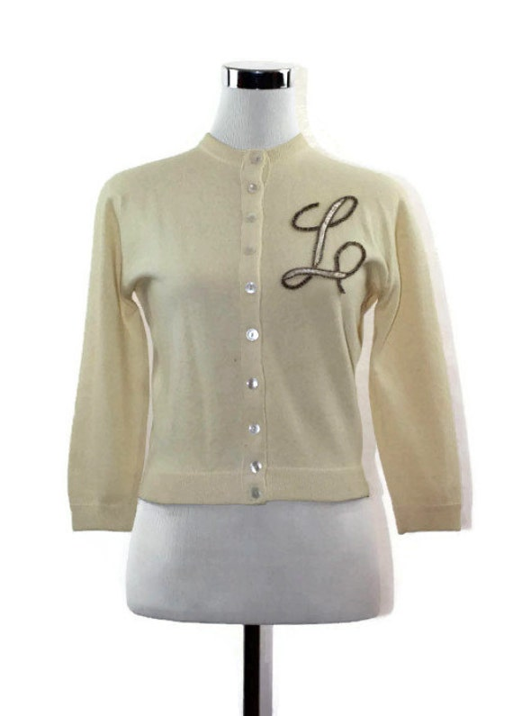 monogram cashmere cardigan sweater jumper by filthyrebena
