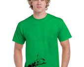 Bug Shirt. Insect T shirt. Stag Beetle T shirt. Beetle Shirt. Orange. Red. Green. Limited Edition.