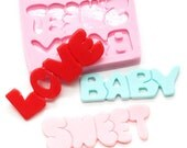Love Baby Sweet Mold 41mm,41mm,39mm Food Safe Bakery Mould Fondant Sugar Paste Resin Fimo 395L* BEST QUALITY