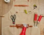 Shop Apron - Waxed canvas, 18oz Canvas, Leather