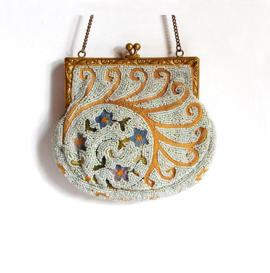 antique metro bag works beaded purse boho evening bag