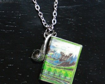 The Hobbit Mini Book Necklace