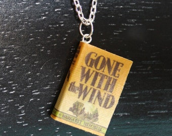 Gone With the Wind Mini Book Necklace