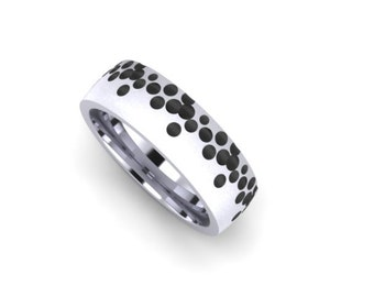Sterling Silver 8mm Wide Bubble Band
