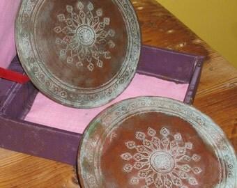 SALE!! Rare Unique Asian Copper Round Box