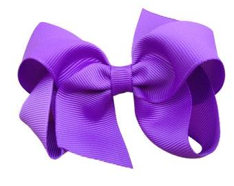 4 inch lilac hair bow - purple bow, lavender bow, boutique bows, girls hair bows, girls bows, purple hair bows, toddler bows, hair clips