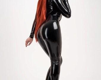 MINCA Latex Rubber Catsuit