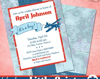 Little Aviator Invitation • Baby Shower • PRINTABLE • by The Occasional Day