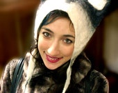 Winter Animal Hat with Husky Dog Ears, wool felted ski hat boy girl hat cosplay wolf hat