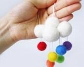 Rainbow Color Cloud Ornament Cloud Mobile Rain Mobile Rain Ornament Raindrop Mobile Raindrop Ornament Rain drop Mobile Rain drop Ornament