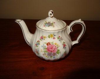 Vintage Teapot Floral Sadler England