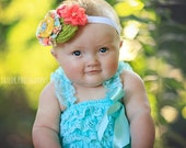 Summertime Breeze - headband in yellow, coral, aqua, red, and greens - M2M Matilda Jane Good Hart Spring Collection