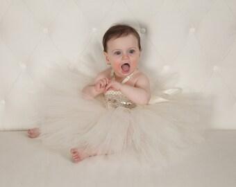 Baby Girl Solid Color Halter Top Tutu Dress with Rhinestone Sash