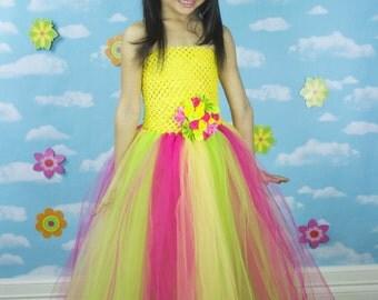Fuschia, Yellow, and Lime Tutu Dress