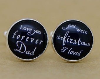 Custom Cuff Links, Personalized Father of the Bride Wedding Cuff Links, Wedding cufflinks, Groom cuff links, bestman cuff links-021